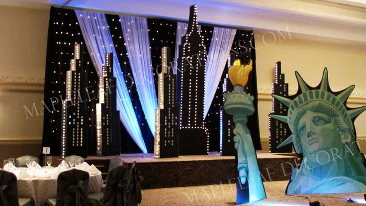 new york theme party decorations bing images post prom pinterest sweet 16 parties and. Black Bedroom Furniture Sets. Home Design Ideas