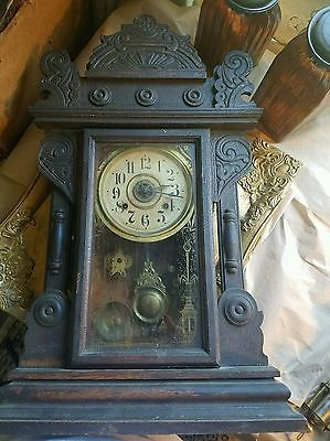 Antique mantle clock by the New Haven clock company NH CT