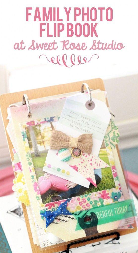 Family Photo Flip Book at Sweet Rose Studio