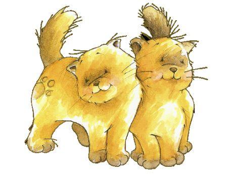 dibujos coloreados gatos para imprimir