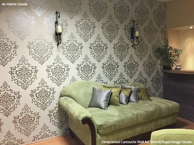 Trendy Designer Interiors That Use Modern Wall Stencils