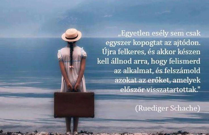 Ruediger Schache idézet a lehetőségek kihasználásáról. A kép forrása: Boszikám jósdája