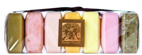 Pre de Provence Soap, Set Of 7, Assorted, 0.88 -Ounce Cello Wrap by Pre de Provence. $9.99. These best-selling soaps are triple milled in Provence using the old-world methods. They're enriched with natural shea butter to cleanse and soften, and infused with pure essential oils to add delicate aroma. Equally wonderful for gifts, guests and personal care.  This pack of 5 guest soaps is a perfect gift on the go.