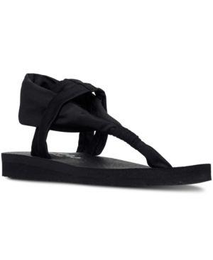 Skechers Women's Meditation - Studio Kicks Comfort Flip-Flop Sandals from Finish Line - Black 10