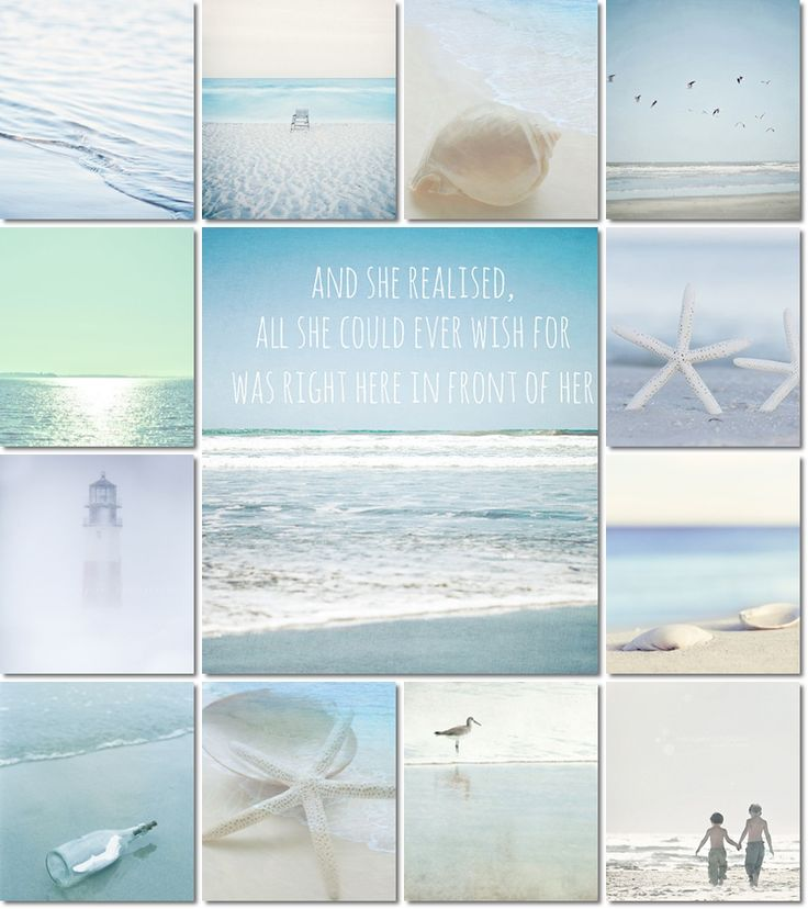 moodboard soft blue beach by AT