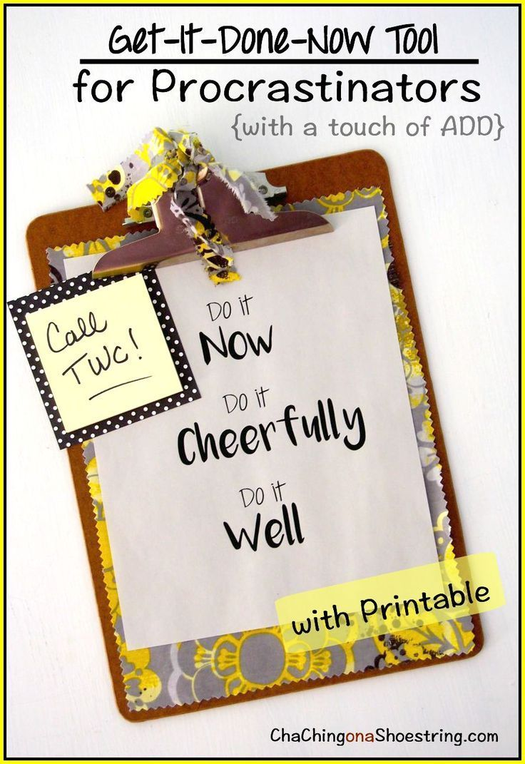 Need inspiration to tackle your To Do list? This Do It Now free printable is just what you need!