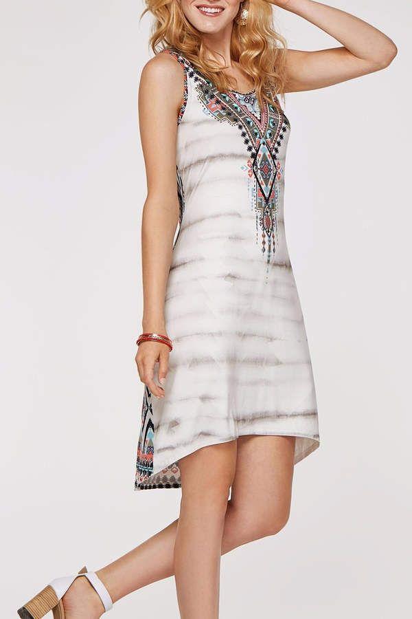 Tribal Stone Dress W/beads