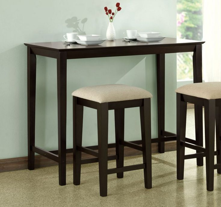 High Table and Stools for Kitchen - Kitchen Trash Can Ideas Check more at http://www.entropiads.com/high-table-and-stools-for-kitchen/