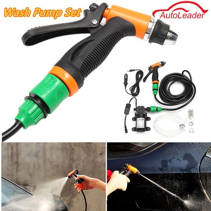 New Arrival DC 12V 36W Portable Car Cleaning Kit High Pressure Washer Pump Washing Gun