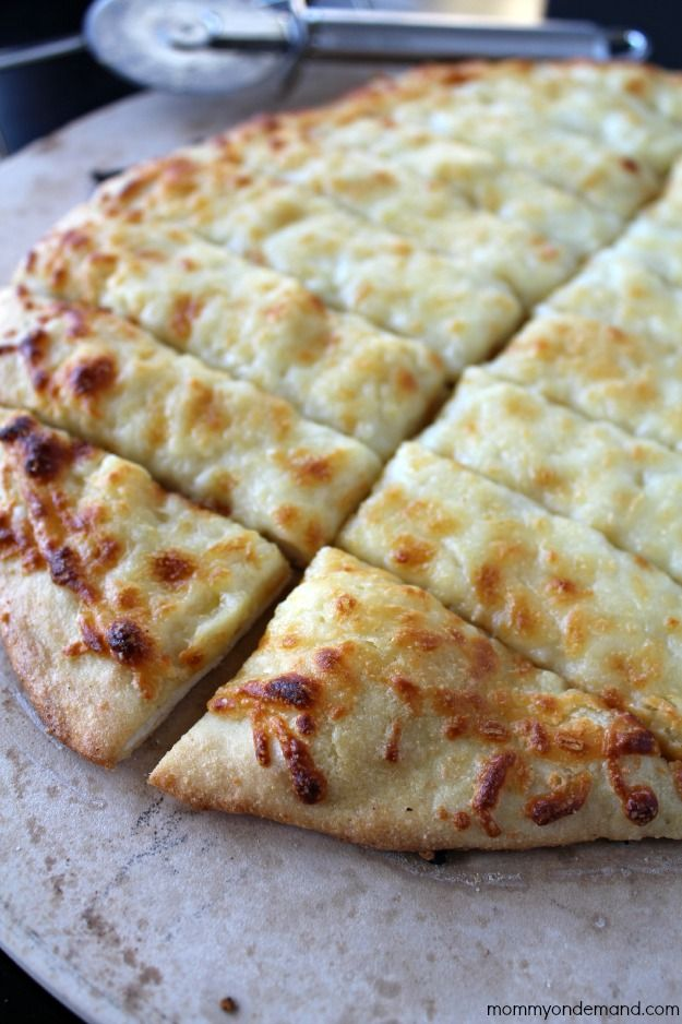 Garlic cheese Breadsticks fresh out of your oven in under minutes!