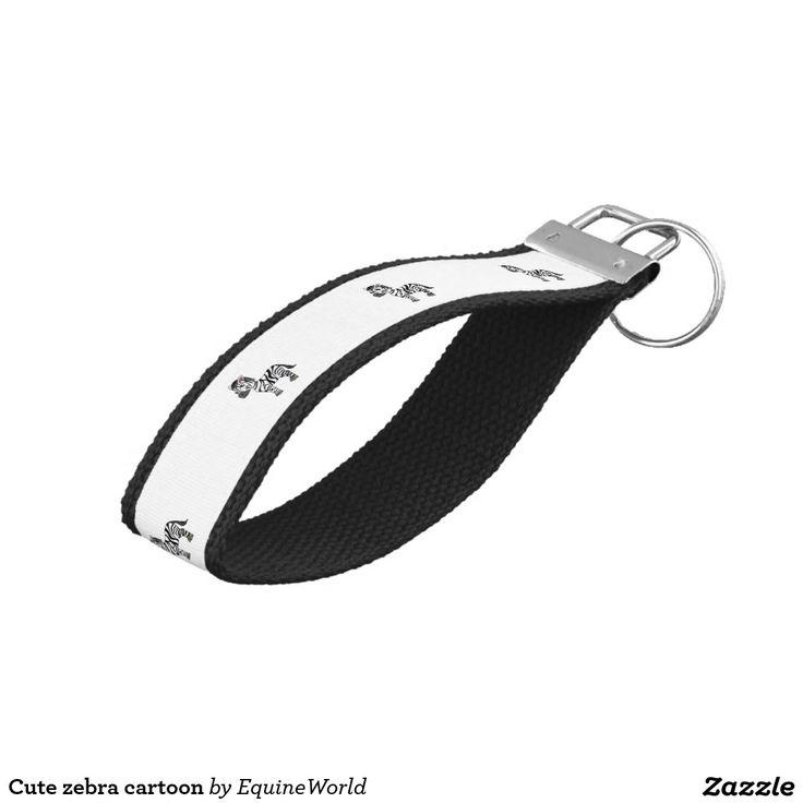 Cute zebra cartoon wrist keychain
