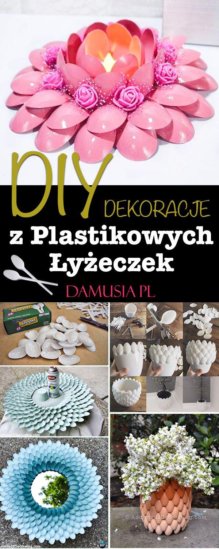 Diy Dekoracje Z Plastikowych Lyzek Najlepsze Pomysly Crafts Art Painting Decor