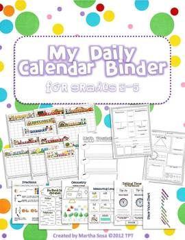 Daily calendar math binder for grades 3-5!