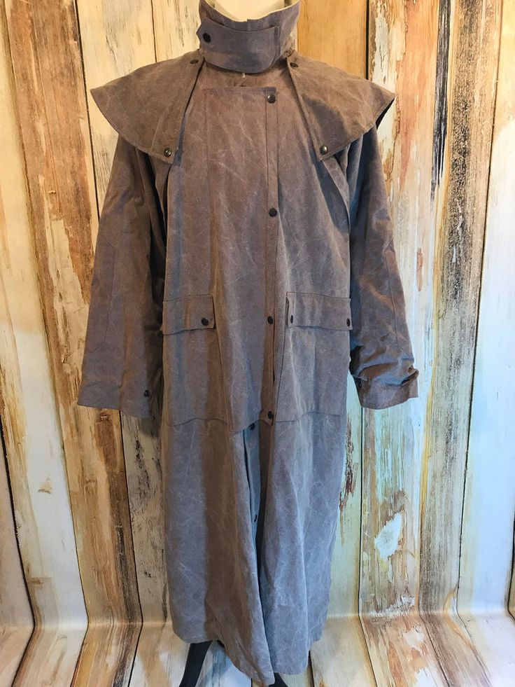 Overland Outfitters Heavy Cotton Canvas Duster Coat Purple Brown sz XL EUC! #OverlandOutfitters #Duster