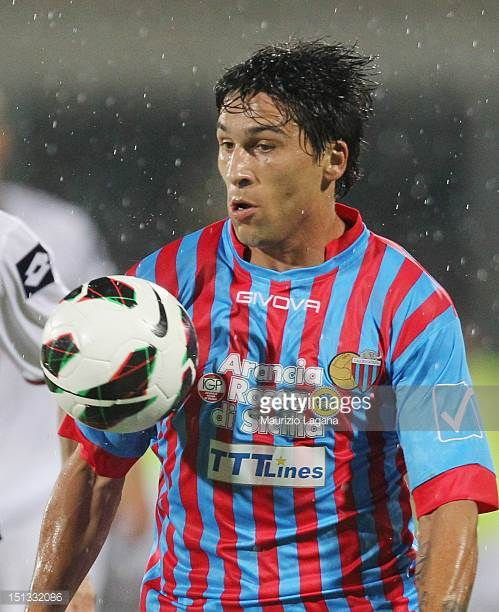 Lucas Castro of Catania during the Serie A match between Calcio Catania and Genoa CFC at Stadio Angelo Massimino on September 2 2012 in Catania Italy