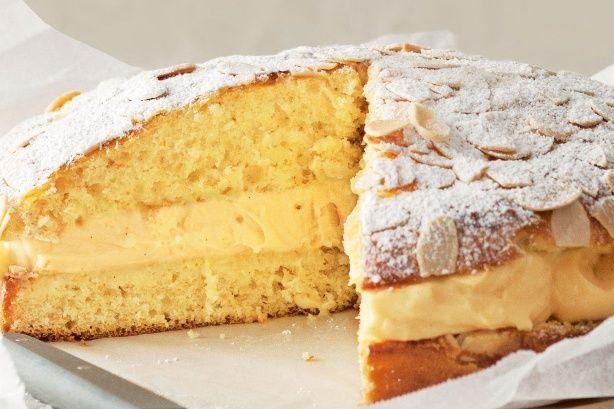 Vanilla and orange cream brioche cake.