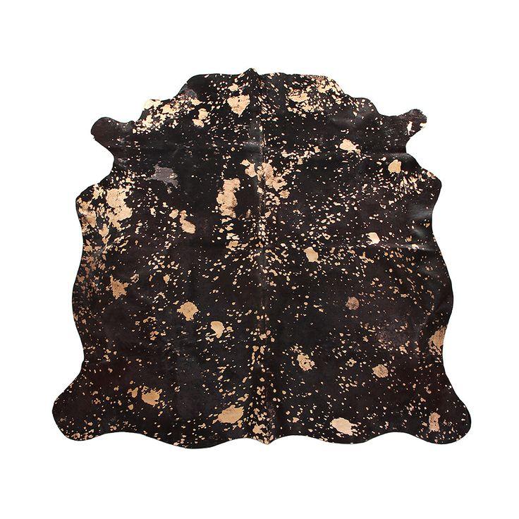 Discover the Amara Acid Burnt Cow Skin Rug - Chocolate / Bronze at Amara
