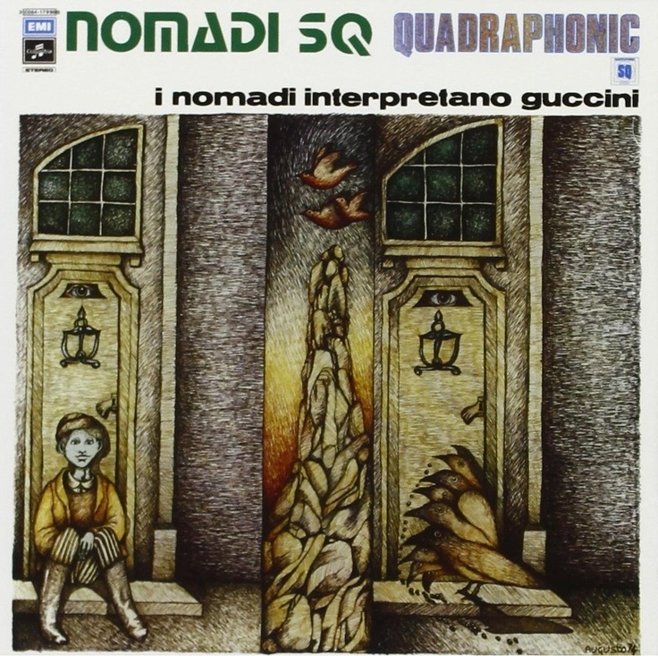 Augusto Daolio 1974 Nomadi SQ Quadraphonic (I Nomadi) - I Nomadi interpretano Guccini [Columbia 3C066-17990Q] #albumcover #fantasy #Prog-Rock