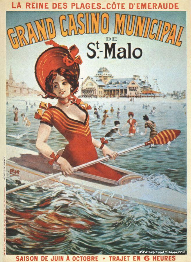 La Reine des plages - Côte d'Emeraude - Grand casino municipal de St Malo - Bretagne - France -
