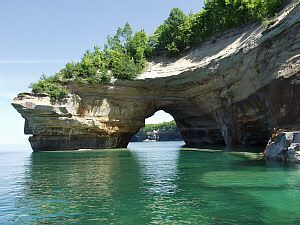 Pictured Rocks Michigan-one of the hidden treasures of Michigan.