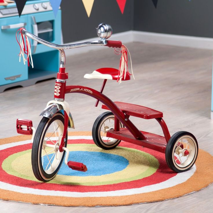 Tricycle Bicycle Classic Bike Kids Outdoor Sport TOYS Red Dual Deck Christmas #RadioFlyer