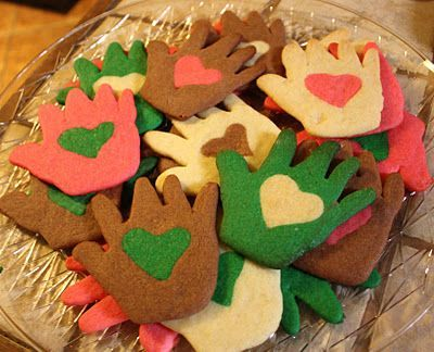 Love in Hand Cookies for Martin Luther King, Jr Day