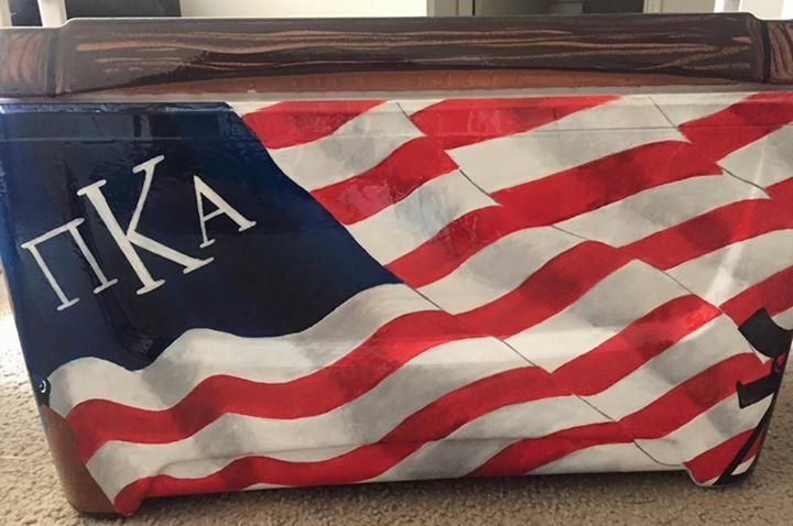 American flag pi kapp pi kappa alpha fraternity cooler