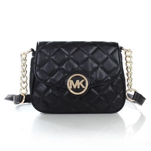 Michael Kors Fulton Quilted Leather Small Black Crossbody Bags