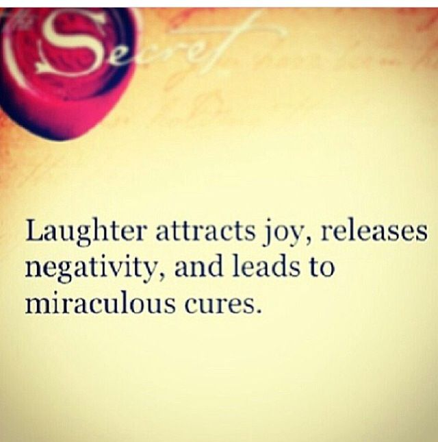 The secret   Laughter truly is the best medicine..literally