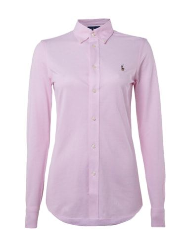 POLO-RALPH-LAUREN Bluse mit Button-Down-Kragen in Weiß online kaufen (9495200) | P&C Online Shop