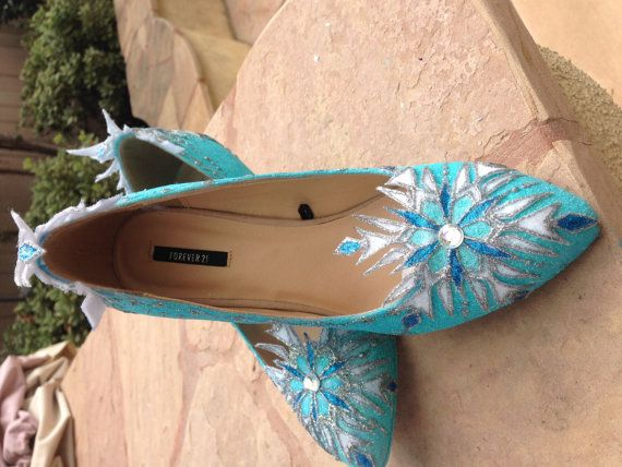 Elsa Wedge Shoes Women Cosplay Inspired by SplendidImaginations
