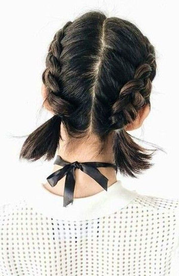 60 Trending Short Hair Styles French Braid Short Hair Braids For Short Hair Tail Hairstyle