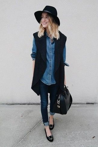 https://lookastic.fr/mode-femme/chemise-en-jean-bleue-marine/comment-porter