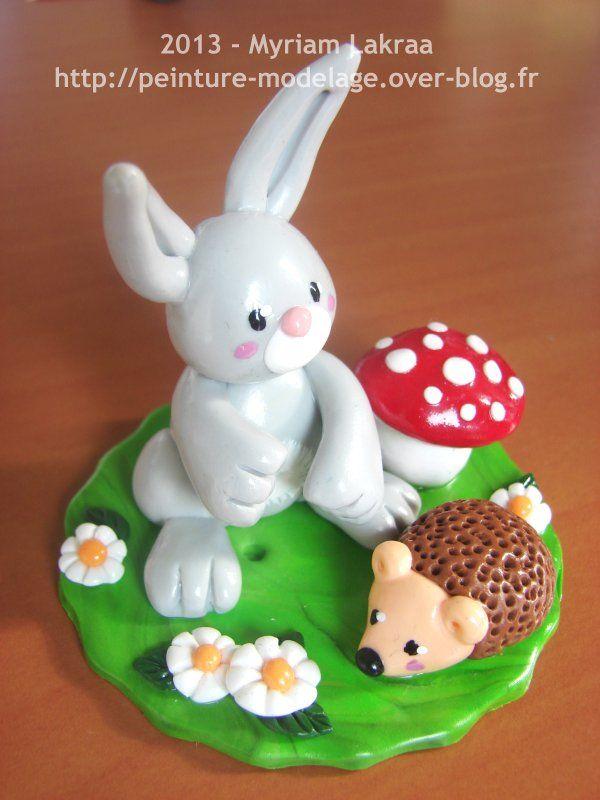 17 meilleures id es propos de lapin en fimo sur pinterest artisanat base d 39 argile fimo et - Patte de lapin peinture ...