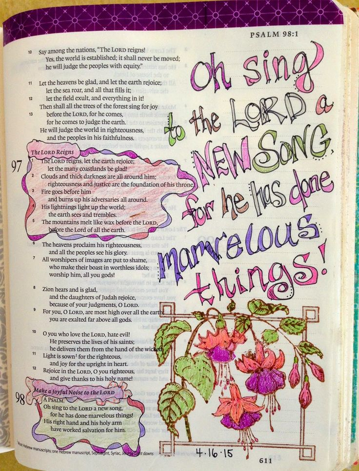 Vintage Grace: Bible Marginalia-He has done marvelous Things!