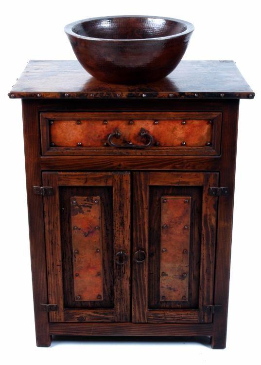 Best Copper Sinks Images On Pinterest Bathroom Copper - Bathroom vanity with copper sink for bathroom decor ideas