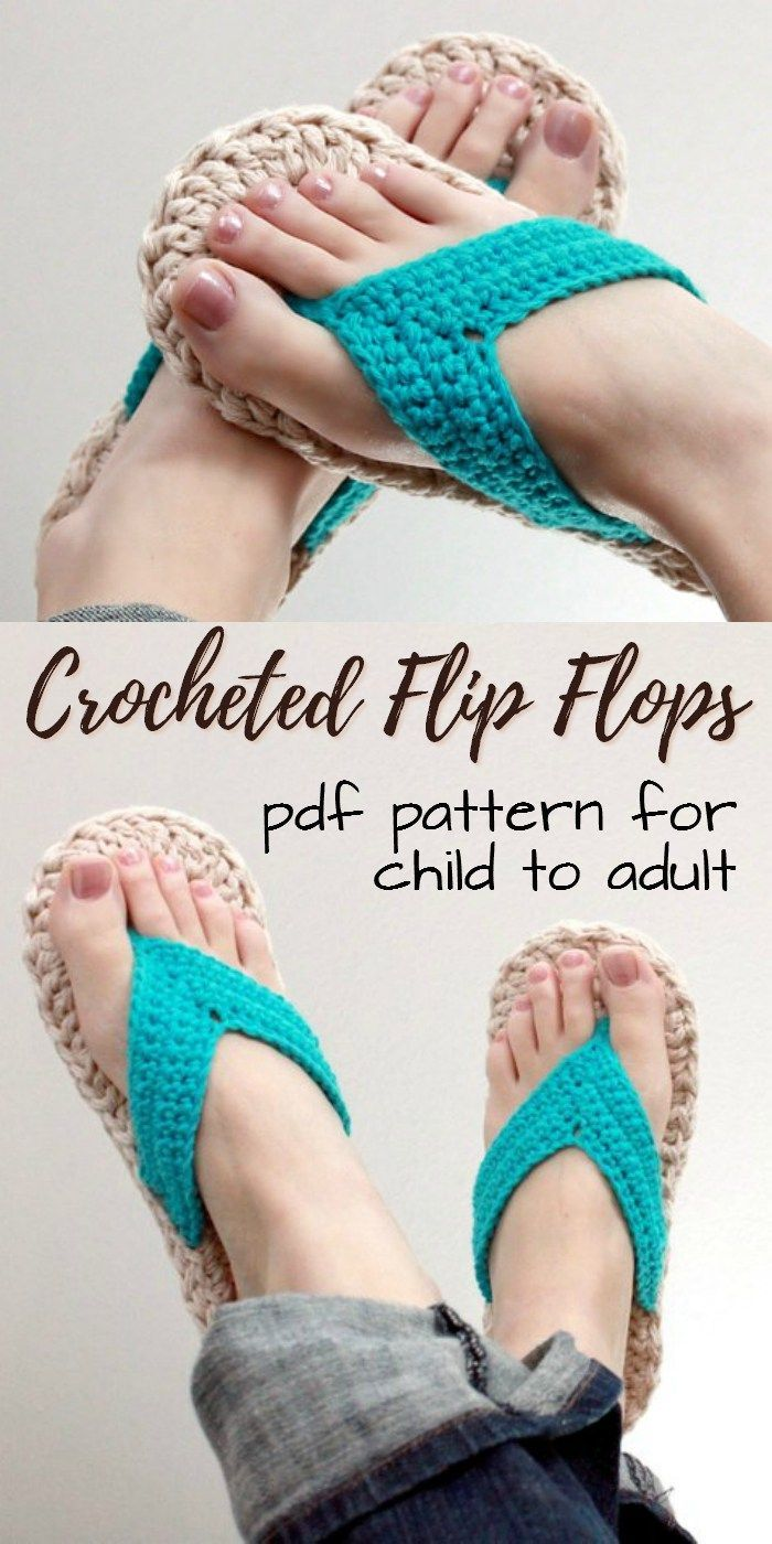 939873c9654aa3 Cute crocheted flip flop pattern for child to adults in sizes 3-10! What a  great summer crochet pattern idea! Check out craftevangelist s summer top  10 Etsy ...