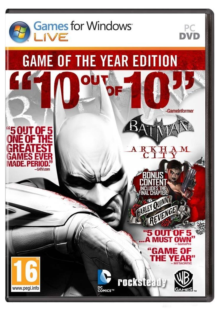 Batman: Arkham City Game of the Year Edition Windows PC Game Download Steam CD-Key Global for only $9.95. ‪#‎videogames‬ ‪#‎deals‬ ‪#‎games‬ ‪#‎gaming‬ ‪#‎awesome‬ ‪#‎awesomeness‬ ‪#‎awesomesauce‬ ‪#‎cool‬ ‪#‎gamer‬ ‪#‎gamers‬ ‪#‎win‬ ‪#‎ftw‬