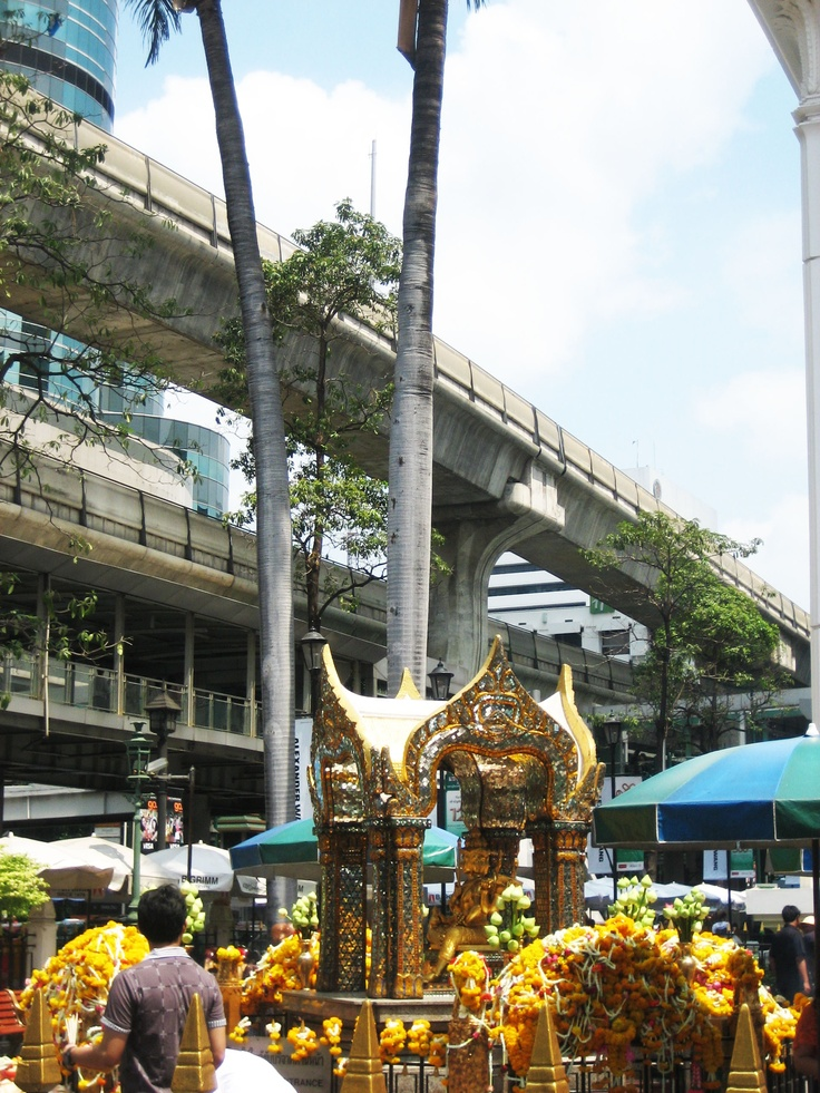 Erawan Temple - Divinity tucked away in the heart of Bangkok, amongst skyscrapers, traffic and the Skytrain