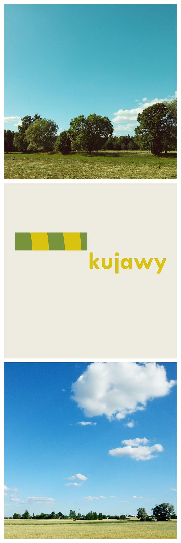 Wypady rowerowe tak nas uskrzydliły, że czasem bawimy się w design... Kujawy nas inspirują! • Kuyavian-Pomeranian • prostokąt - lekko faliste, nizinne ukształtowanie terenu • pasy żółci i zieleni - tradycyjne krajobrazy pól upranych  • rectangle - slightly wavy, lowland area • stripes of yellow and green - the traditional landscapes of farmland for Kujawy in central Poland
