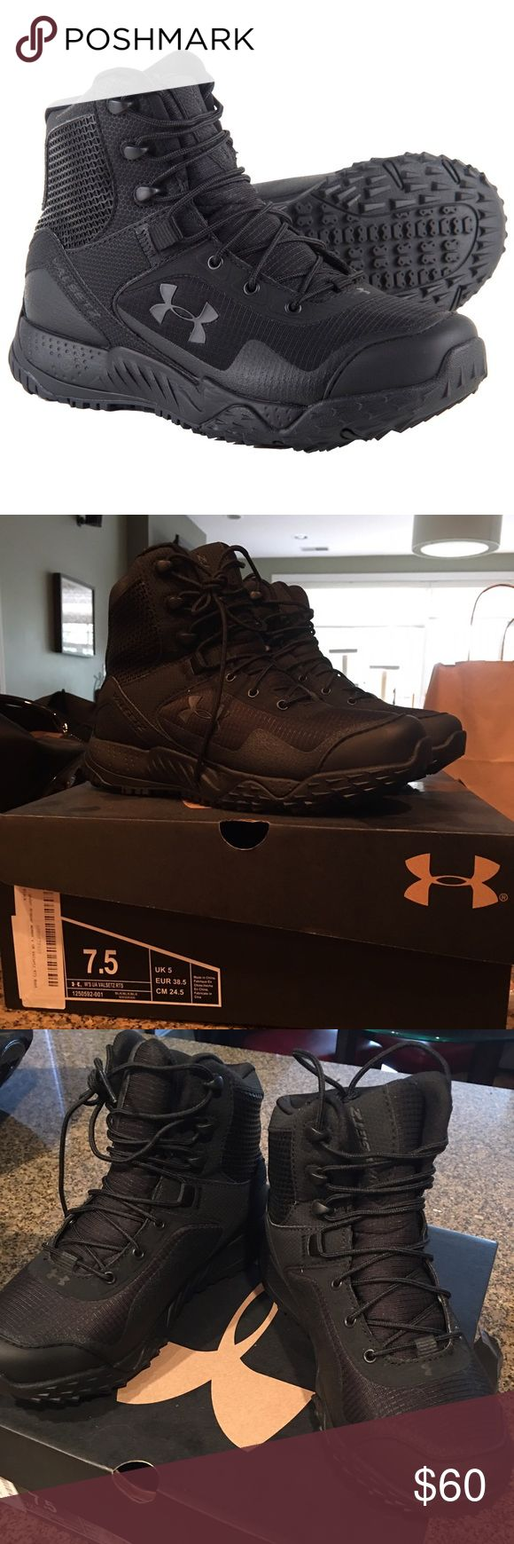 Under Armour Women's Tactical Boots New in box Under Armour women's Valsetz RTS tactical boots. These boots are brand new and never worn. Perfect for ladies in law enforcement or for for shooting/hunting. Under Armour Shoes