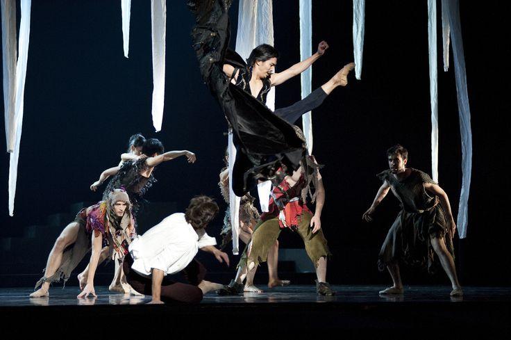 RWB soloist Yosuke Mino and RWB Company in Twyla Tharp's The Princess & The Goblin, 2013, Photo credit: Bruce Monk