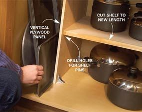 Pots and pans storage! Much needed!