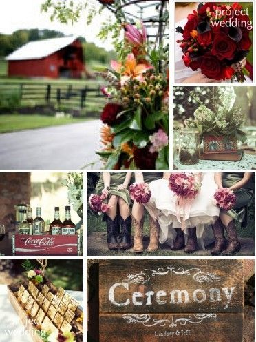 Country wedding ideas LOVE THE COLORS TOGETHER