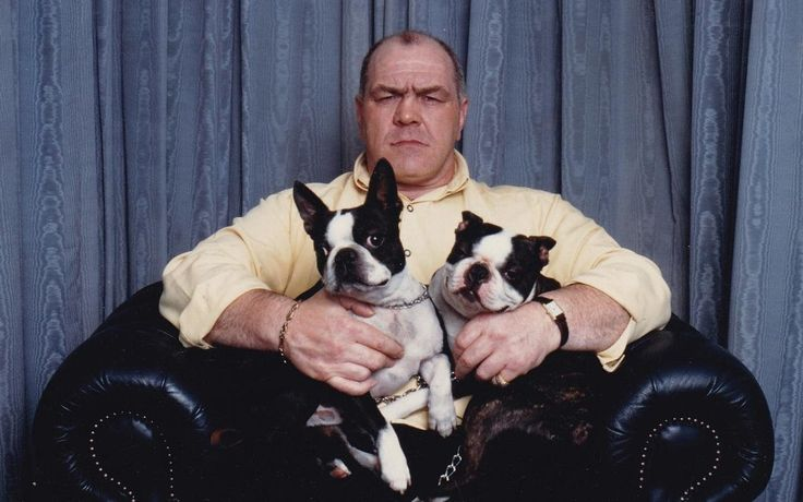 Lenny McLean with his two Boston Terrier's