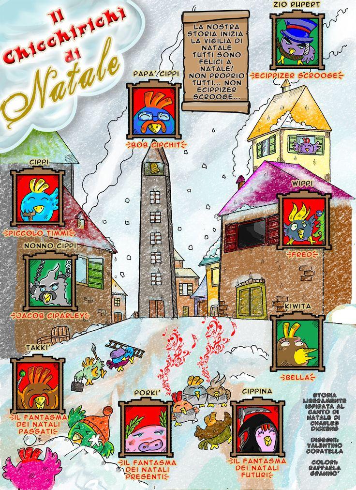 Il Canto di Natale di Dickens in versione polletti a fumetti
