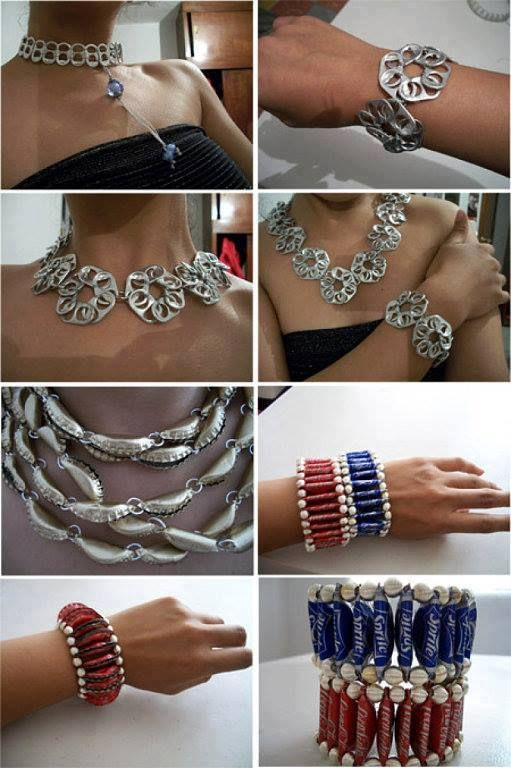 Up-Cycle Soda Can Tabs & Bottle Caps To Make Jewelry