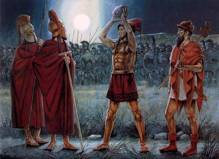 Espartanos en Platea, Richard Hook.