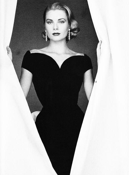 Grace Kelly: Fashion, Vintage, Beautiful, Style Icons, Grace Kelly, Little Black Dresses, The Dresses, People, Photo