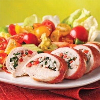 Poitrines de poulet farcies à l'italienne - Soupers de semaine - Recettes 5-15 - Recettes express 5/15 - Pratico Pratique
